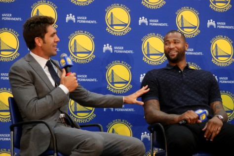 GOLDEN STATE WARRIORS DEMARCUS COUSINS PRESS CONFERNECE
